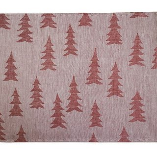 Nordic style designer – fir table mat (pink) Gran Place Mat, Red / Powder
