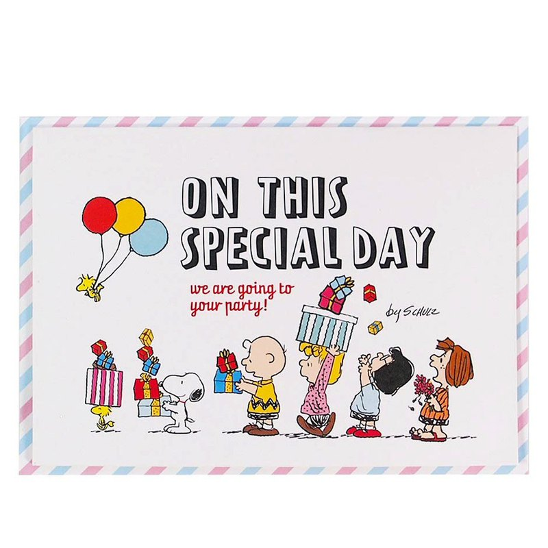Snoopy Open Birthday Party [Hallmark Stereo Card/Music Birthday Blessing]