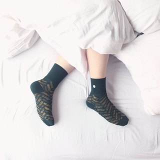 SEVEN SUNDAY Sunday seven o'clock army green socks male socks socks socks geometric designer socks girls socks produced in Malaysia