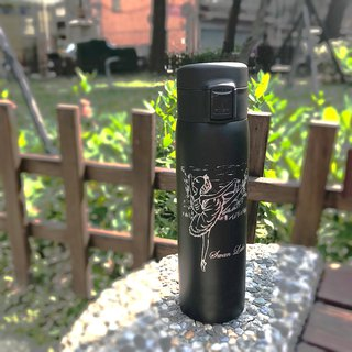 Yizhi Ballet x OUTDOOR Joint Edition | Swan Lake Stainless Steel Thermos (Black)