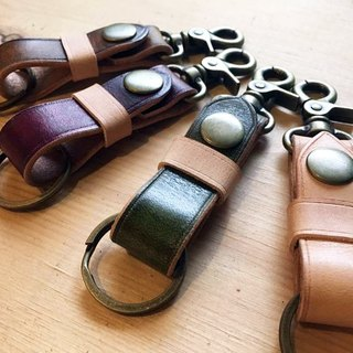 【SUMI】 【Freehand burning word】 Hao's - blooming leather key ring