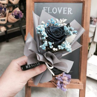 Black rose eternal bouquet