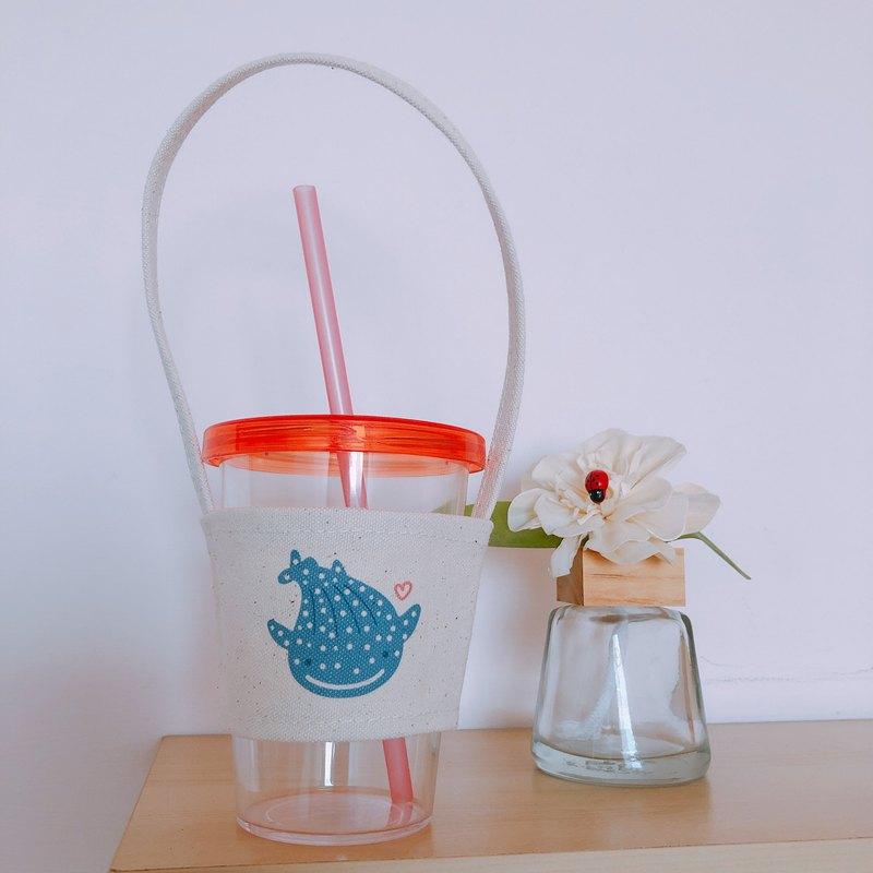 鯨鯊 手繪環保杯袋