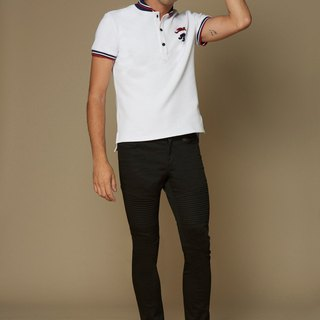 Collar strip POLO shirt