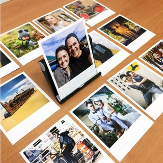 12 IG (instagram) Cards With Black Card Stand