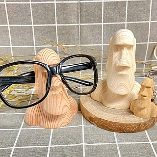 Raw wood for Moai glasses frame walnut models