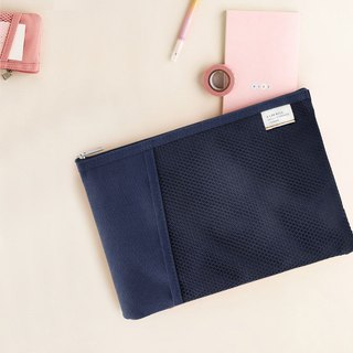Livework casual wind double fold file bag V2-Navy, LWK56443