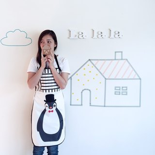 [] Good Day_ La la la love penguin aprons Walking / limited hand / kitchen baking a good thing