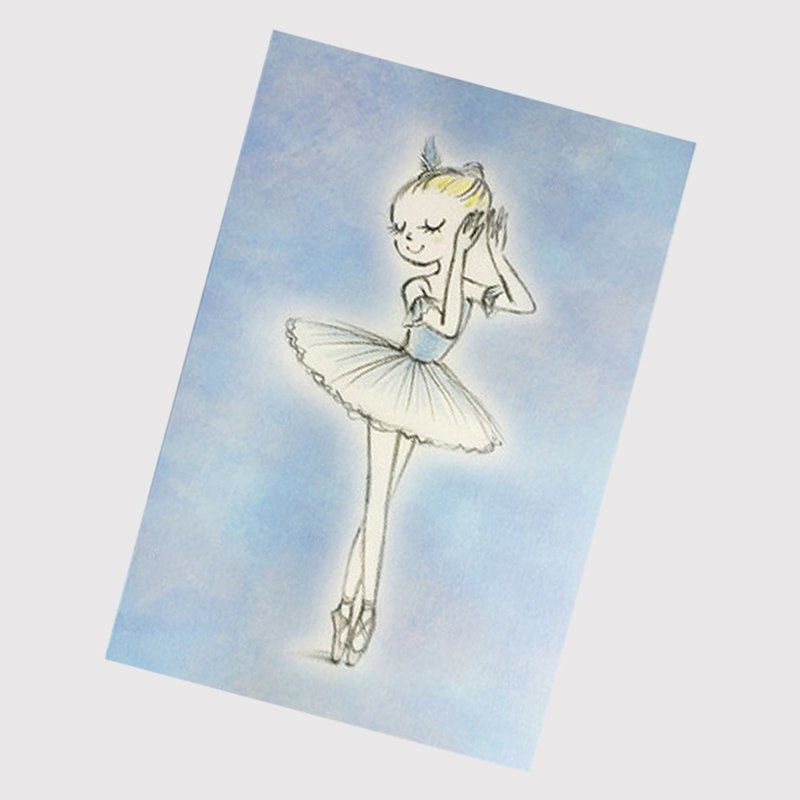 Yizhi Ballet | Sleeping Beauty Happy Bluebird Ballet Postcard