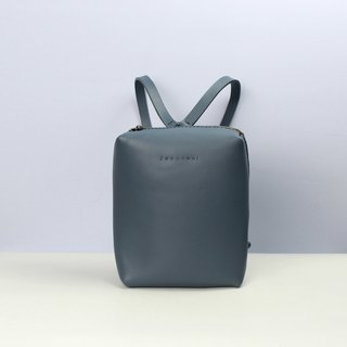 TaneLa Leather Back pack in Grey color