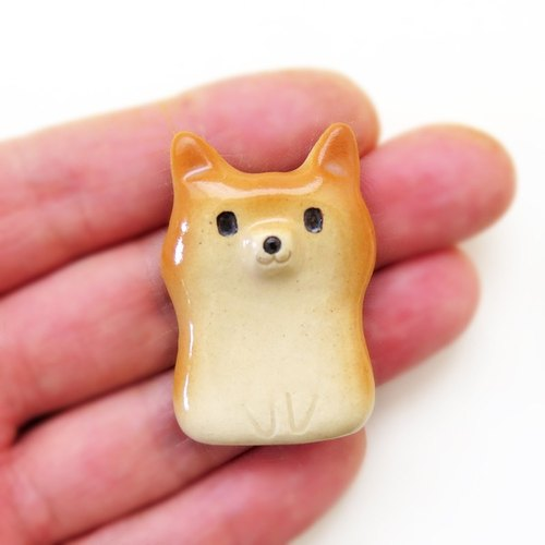 White The pen rest of flat Shiba Inu shape Shiba Inu workshop
