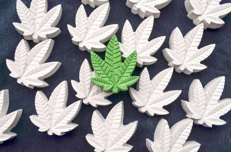 大麻葉 造型  擴香石 8件組 交換禮物 情人節禮物