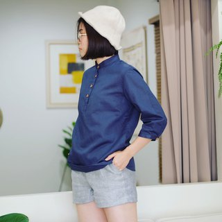 3/4 sleeves Shirt : Blue