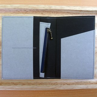 l Travel season discount l black x gray washed kraft paper | passport holder with a wallet