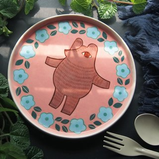 Pink Bear (L)  l ceramics l May&Clay Ceramics Studio