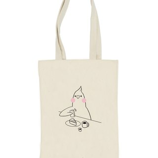 Cockatiel totebag (BUNNNKO CAFE)