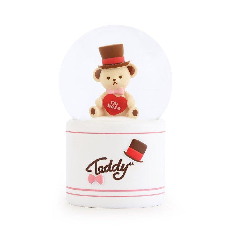 泰迪珍藏-紳士小TEDDY 水晶球擺飾 情人節告白聖誕交換生日禮物