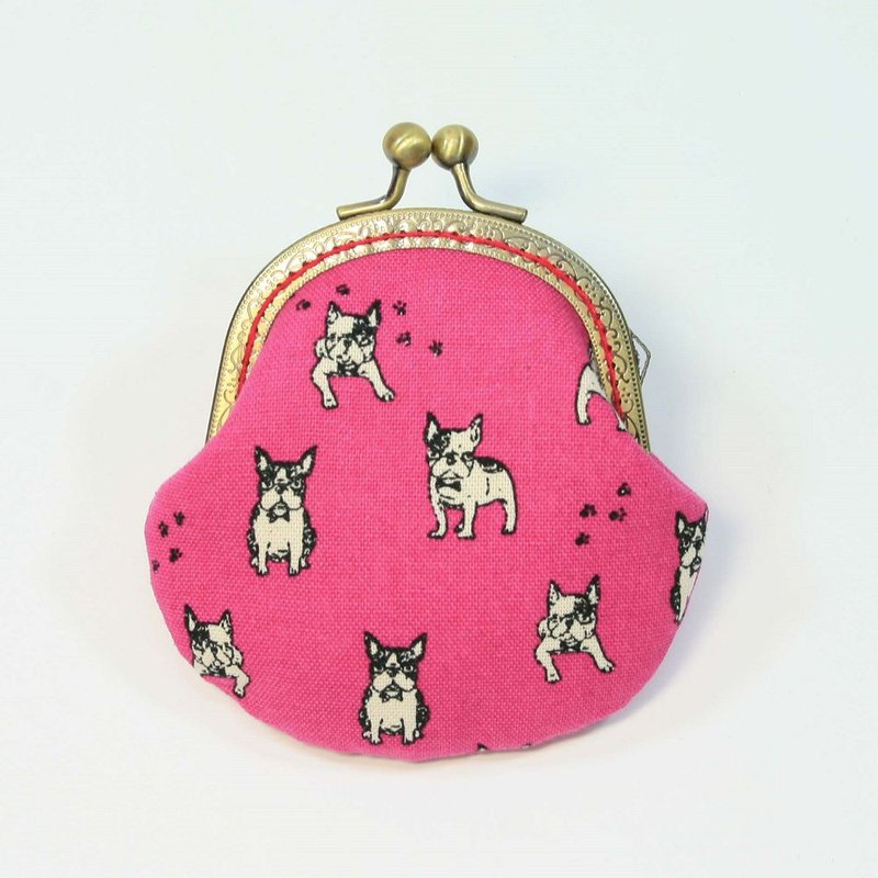 8.5cm gold coin purse 37-fighting peach pink bottom
