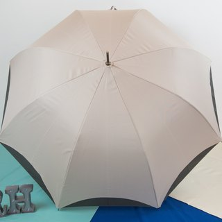 Rainbow House double color umbrella - khaki and ash (do not send abroad)