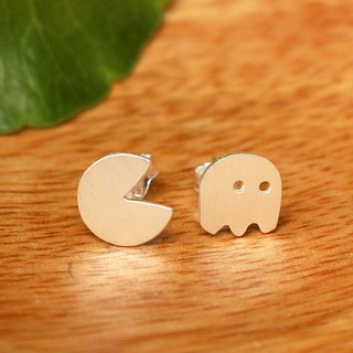 Pac Man - ต่างหู Pac Man - Silver Earrings / Earrings / 銀 / 耳環