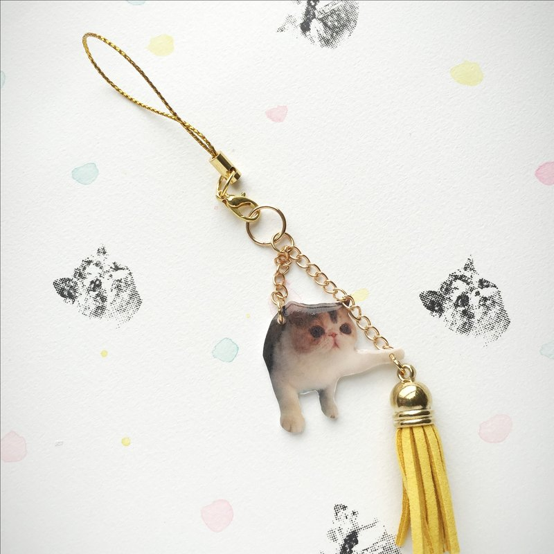 House of Cats Jojo Hang On Handmade Tassel Phone Charm / Zipper Charm