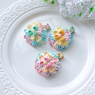Color gradient color matching Japanese style and wind cloth flower children's hairpin hair accessories
