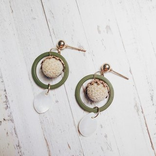 ◈ light sweet garden ◈ dried flower earrings fruit forest