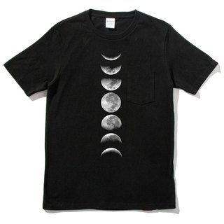Moonphase Short Sleeve T-Shirt Black Moon Phases Moonshine Milky Way Earth Planet Astrophotography Aurora Astrophotography Sun Planet