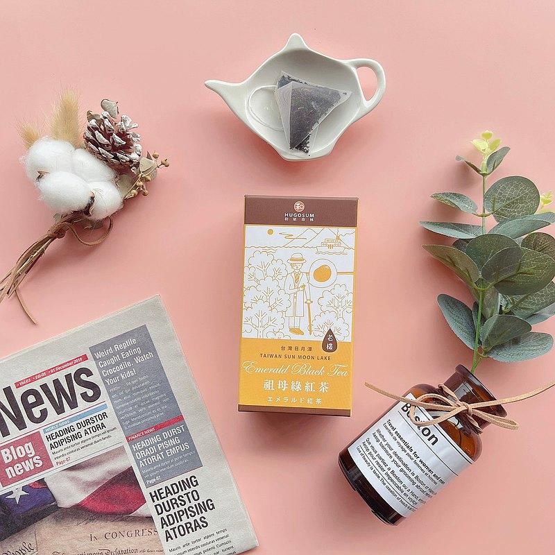 【立體茶包】紅茶故事集-老欉祖母綠紅茶芯芽茶包6入/盒