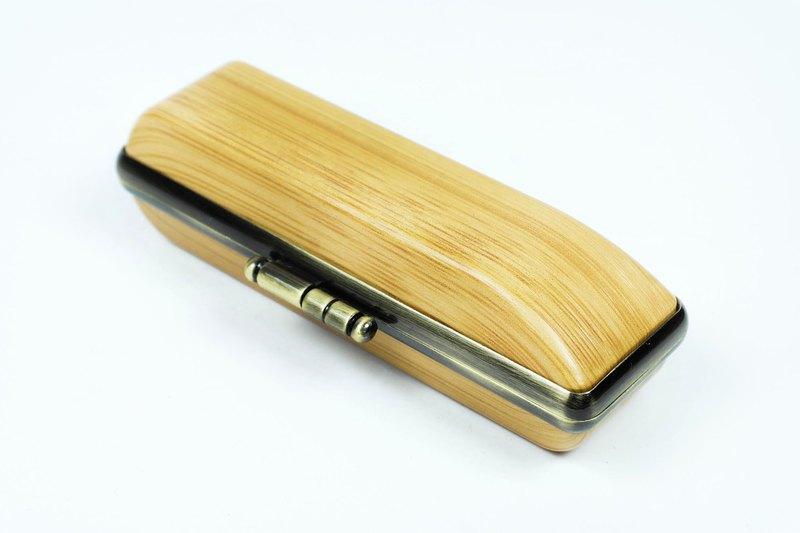 橙印良品 - 原木手工私章盒【日本製】- 孟宗竹