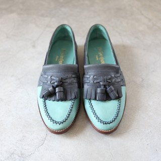 A ROOM MODEL - VINTAGE, YSL shoes, blue and green flow Sule Fu / SC-0977