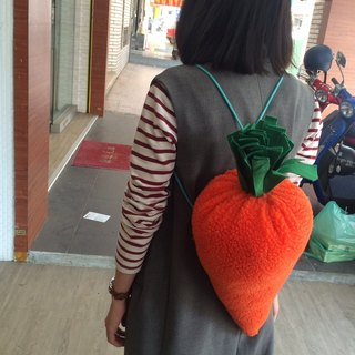 RABBIT LULU oversized carrot styling backpack / detachable strap change pillow