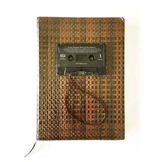 Notebook, Limited edition, Hand-weave, Cassette tapes, Brown color, Stationary