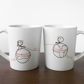 MARS AND VENUS Couple Coffee Mugs (FREE HAND CREAM)
