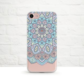 Pastel Mandala, Clear Soft Phone Case,iPhone Xs Max, Xr to iPhone SE/5, Samsung