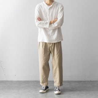 Japanese with double pleated 裥 9 pants loose French trousers men Work Pants