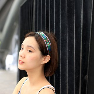 【The MAMA's Closet】Edelweiss / Denim with Ribbon Headband