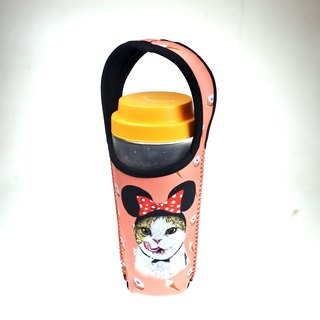 Three cats cat pattern eco-friendly beverage bags to eat goods Minnie cat