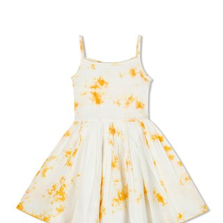 CHANDAMAMA Lively White w/merigold Dress