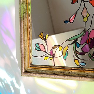 "Antique style interior mirror ""Tinker Bell"""