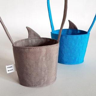 New iron ash shark fin / shark came to the environmentally friendly drink cup bag