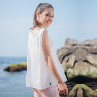[MACACA] Grass Leaf Comfortable Top - BQE1242 White