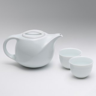 No. 2 │Silk Teapot Teacup Set (White Porcelain)