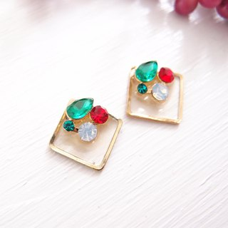 Christmas x colorful - not painful U-shaped ear clip stainless steel ear pin silicone ear