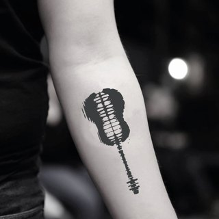 Shawn Mendes Guitar Temporary Tattoo