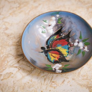 Accessory / Hand-painted Butterfly Small Plate