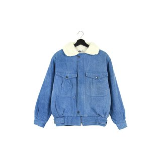 Back to Green :: Shop Cotton Denim Jacket Sky Blue Zipper vintage (DJ-09)