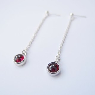 Classic Pomegranate 925 silver earrings