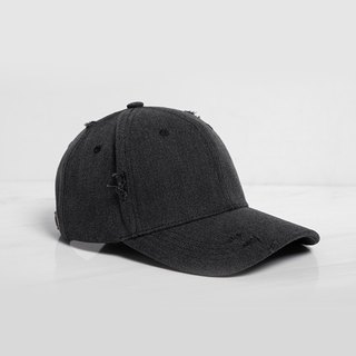Broken style baseball cap dark gray:: Customizable::