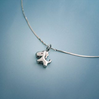 S Lee-925 Silver Handmade Animal Kingdom Series - Small pony chain - Double-sided design (solid)